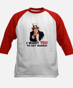 Want You To Get Naked Kids Baseball Jersey