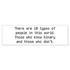10 Types Of People Bumper Bumper Sticker