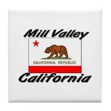 Mill Valley California Tile Coaster