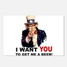 Want You To Get Me a Beer Postcards (Package of 8)