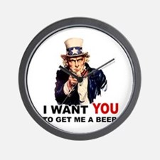 Want You To Get Me a Beer Wall Clock