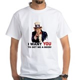 I want you Mens White T-shirts