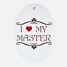 'I Love My Master' Oval Ornament