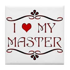 'I Love My Master' Tile Coaster