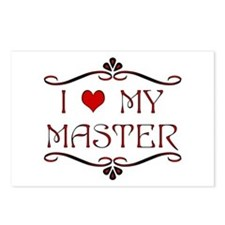 'I Love My Master' Postcards (8 pk)