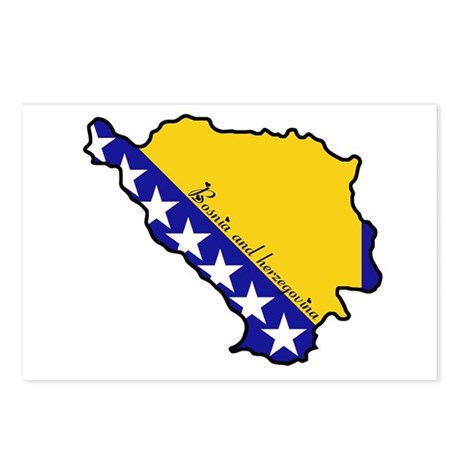 Cool Bosnia Herzegovina Postcards (Package of 8)
