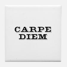 """Carpe Diem"" Tile Coaster"