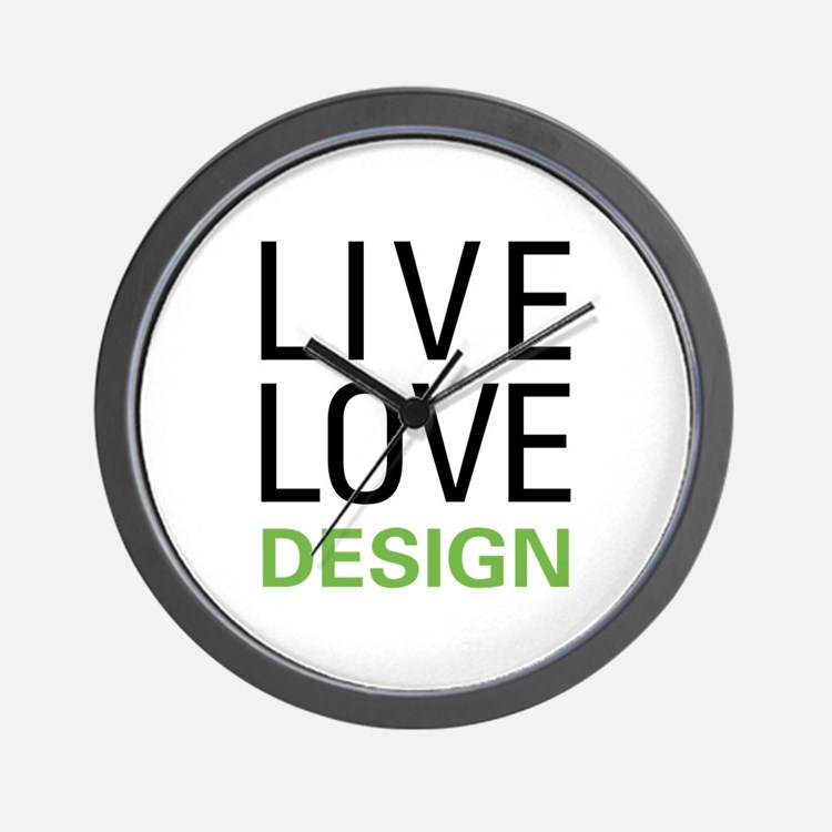 Live Love Design Wall Clock
