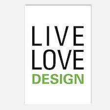 Live Love Design Postcards (Package of 8)