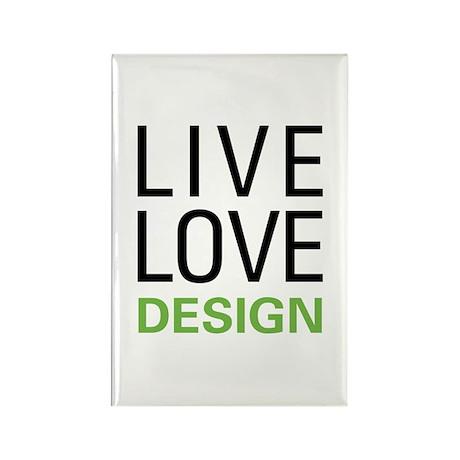 Live Love Design Rectangle Magnet (10 pack)