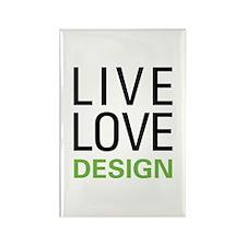 Live Love Design Rectangle Magnet (100 pack)