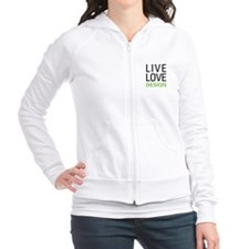 Live Love Design Fitted Hoodie