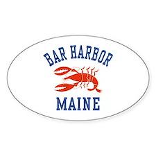 Bar Harbor Maine Oval Decal