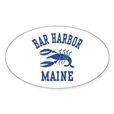 Bar Harbor Maine Oval Decal