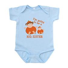 little pumpkin big sister Infant Bodysuit