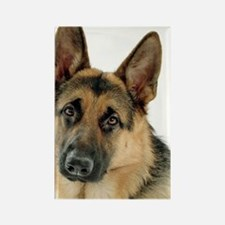 Unique German shepherd Rectangle Magnet