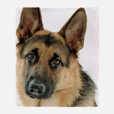Cute German shepherd Throw Blanket