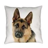 German shepherd Burlap Pillows