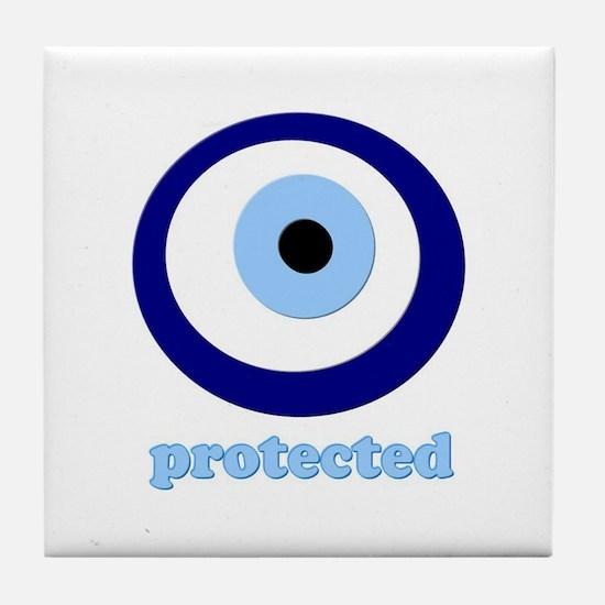 Greek Mati Protection Tile Coaster