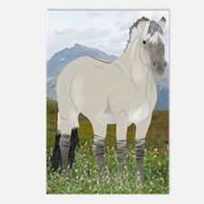 Funny Fjord horse Postcards (Package of 8)