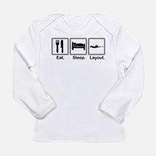 Eat, Sleep, Layout Long Sleeve T-Shirt