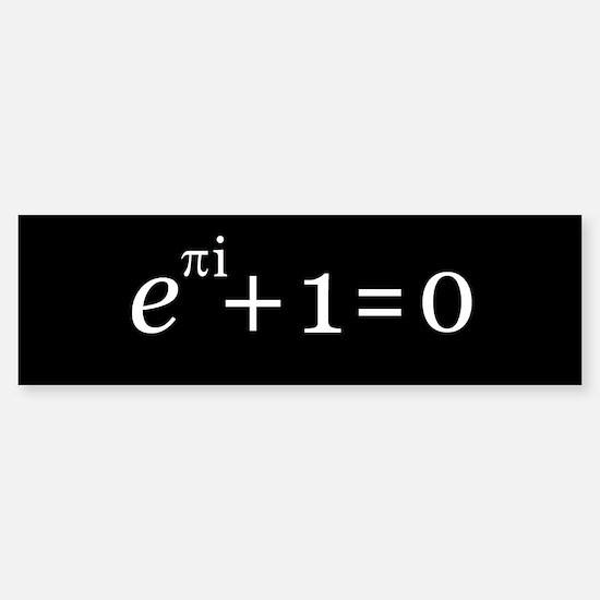 Euler's Identity Bumper Car Car Sticker