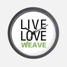 Live Love Weave Wall Clock