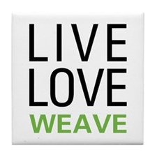 Live Love Weave Tile Coaster