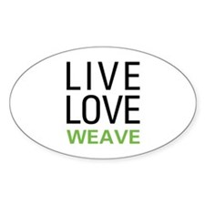 Live Love Weave Oval Decal