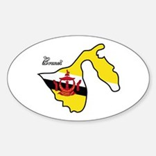 Cool Brunei Oval Decal