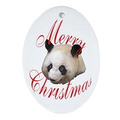 Giant Panda Oval Ornament