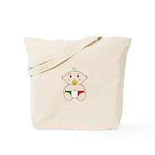 Italian Flag Nappy design Tote Bag