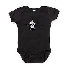 Cute Ship nautical compass sail pirate Baby Bodysuit