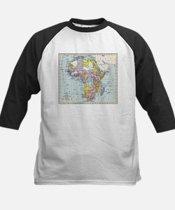 Vintage Map of Africa (1897) Baseball Jersey
