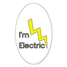 I'm Electric Oval Decal