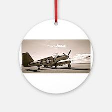 Tuskegee P-51 Round Ornament