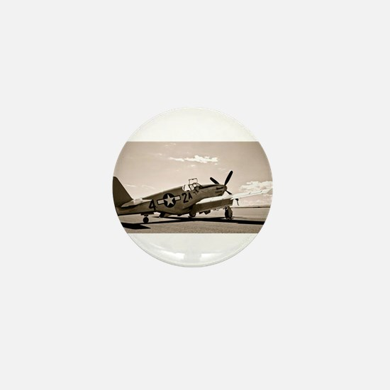 Tuskegee P-51 Mini Button