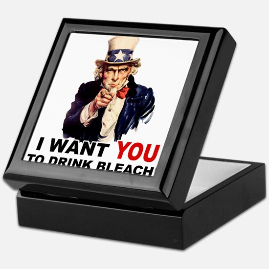 Want You To Drink Bleach Keepsake Box