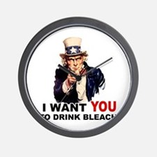 Want You To Drink Bleach Wall Clock
