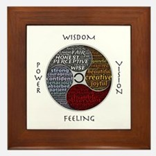 Cute Positive affirmation Framed Tile