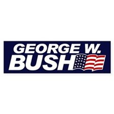GEORGE W. BUSH Bumper Bumper Sticker