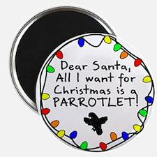 Dear Santa Parrotlet Christmas Magnet