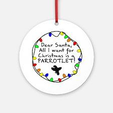 Dear Santa Parrotlet Christmas Ornament