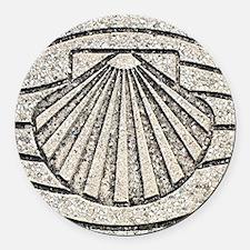 Funny Pilgrims Round Car Magnet
