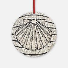 Cute Scallop shell Round Ornament