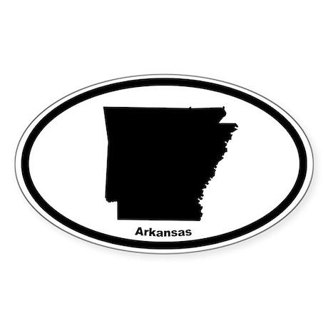 Arkansas State Outline Oval Sticker