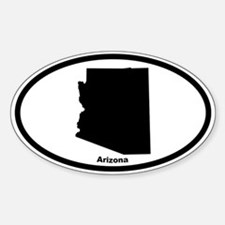 Arizona State Outline Oval Decal