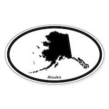 Alaska State Outline Oval Decal