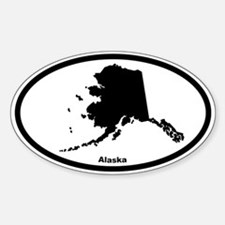Alaska State Outline Oval Decal