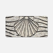 El Camino shell, pavement, Aluminum License Plate